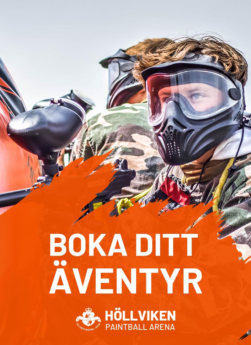 Boka ditt spel nu på Höllviken Paintball Arena